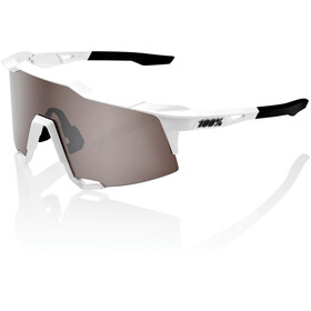 100% Speedcraft Lunettes Grand, matte white hiper silver/HD multilayer/hiper